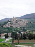 Ville de sommet de montagne d'Umbrian Photographie stock