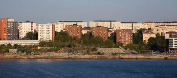 Ville de Stockholm aventure en Scandinavie photo stock