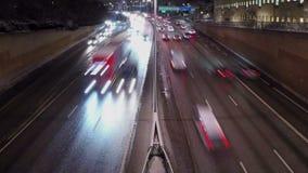 Ville de Stockholm la nuit banque de vidéos