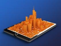 Ville de Tablette illustration libre de droits