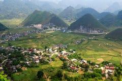 Ville de Tam Son, Quan Ba, Ha Giang, Vietnam Image stock