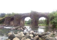 ville de tayabas de pont de malagunlong, Quezon photographie stock libre de droits