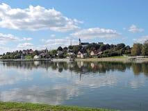 Ville de Telsiai, Lithuanie Images libres de droits