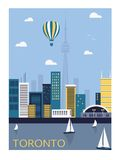 Ville de Toronto illustration stock