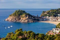 Ville de Tossa de Mar sur Costa Brava en Espagne Photographie stock