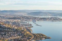 Ville de Trieste l'Italie Image stock