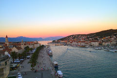 Ville de Trogir photo stock