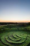Ville de Troy Maze - lever de soleil - North Yorkshire - R-U Photo libre de droits