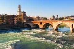 Ville de Vérone l'Italie Images libres de droits