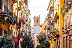 Ville de Valence en Espagne images libres de droits