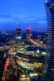 Ville de Varsovie par nuit Photo libre de droits
