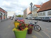 Ville de Ventspils, Lettonie photo stock