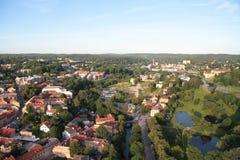 Ville de Vilnius et de x28 ; Lithuania& x29 ; , vue aérienne Photos libres de droits
