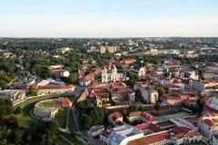 Ville de Vilnius et de x28 ; Lithuania& x29 ; , vue aérienne Photographie stock libre de droits