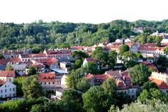 Ville de Vilnius et de x28 ; Lithuania& x29 ; , vue aérienne Photo libre de droits