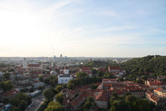 Ville de Vilnius et de x28 ; Lithuania& x29 ; , vue aérienne Photos stock