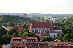 Ville de Vilnius et de x28 ; Lithuania& x29 ; , vue aérienne Photo stock