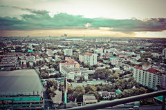 Ville de vue de Bangkok Images libres de droits
