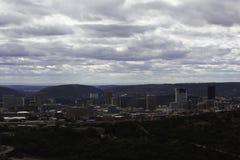 Ville de vue du sud de district des affaires de Pretoria image libre de droits