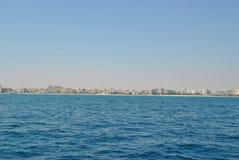 Ville de vue de mer de Sousse Tunisie image libre de droits