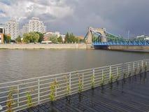 Ville de Wroclaw de cent ponts photo stock