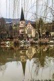 Ville de Wufu à Chengdu, porcelaine Images libres de droits