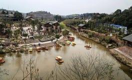 Ville de Wufu à Chengdu, porcelaine Photo stock