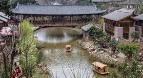 Ville de Wufu à Chengdu, porcelaine Photographie stock libre de droits