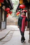 Ville de Wufu à Chengdu, porcelaine Photographie stock