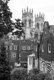Ville de York avec York Minster Yorkshire, Royaume-Uni Photos stock