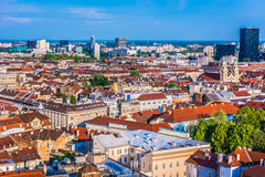 Ville de Zagreb en Croatie, l'Europe Photographie stock