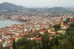 Ville de Zakinthos Image libre de droits