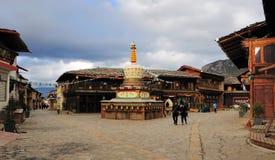 Ville de Zhongdian, province de Yunnan Images libres de droits