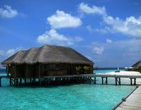 Ville dell'acqua in Maldive fotografia stock libera da diritti