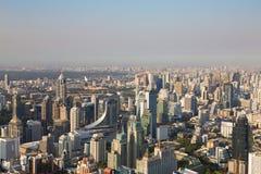 Ville des affaires centrales de Bangkok du centre Photographie stock libre de droits