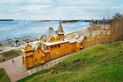 Ville des artisans dans Gorodets photos stock