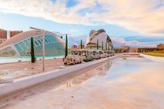Ville des arts et de la science au coucher du soleil Valencia Spain Photos libres de droits