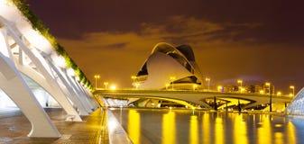 Ville des arts et des sciences   à Valence, l'Espagne. Photo libre de droits