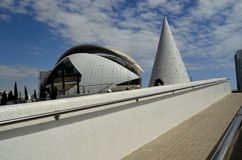 Ville des arts et des sciences en Valencia Spain Images stock