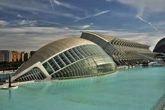 Ville des arts et des sciences, Valence. Image stock