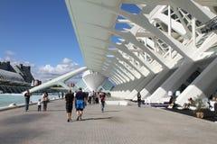 Ville des arts et des sciences Valence ouverte Images libres de droits
