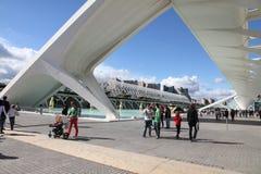 Ville des arts et des sciences Valence ouverte Image libre de droits