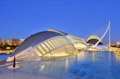 Ville des arts et des sciences Valencia Spain photo libre de droits