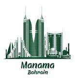 Ville des bâtiments célèbres de Manama Bahrain Photos stock