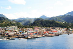 Ville des Caraïbes Image stock