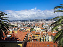 Ville des Frances Nice et du sud Images libres de droits