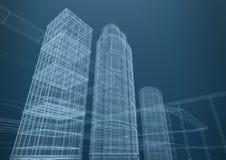 Ville des gratte-ciel dans les formes, concept