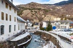 Ville des jeunes mariées-les-Bains Département de la Savoie Photo stock