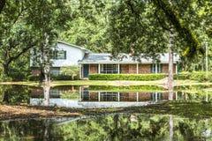 Ville di legno di vecchia eredità in Apalachicola, U.S.A. Fotografie Stock Libere da Diritti