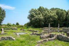 Ville Dion de Grèce antique Ruines de Chambre de Dionysos Parc archéologique de ville sacrée de Macedon photographie stock